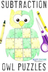 Click now to get your SUBTRACTION Owl Math Activities!