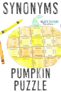Click to buy these pumpkin SYNONYM activities!