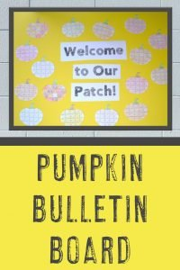"""Welcome to Our Patch!"" pumpkin bulletin board with pumpkin puzzles"
