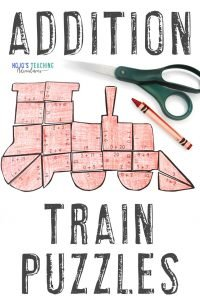 Click to buy your own ADDITION train math activities!
