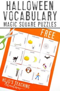 Click to get your FREE 3x3 Halloween Magic Square Puzzle game!