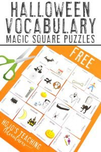 Click to get your own 4x4 Halloween Activities Magic Square Puzzles!