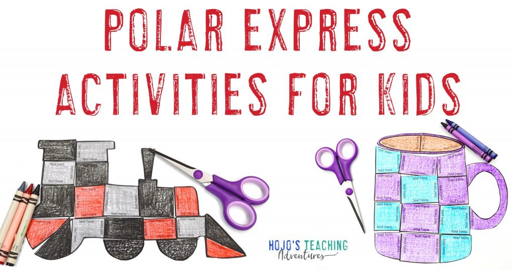 Polar Express Activities for Kids with a train and mug puzzles