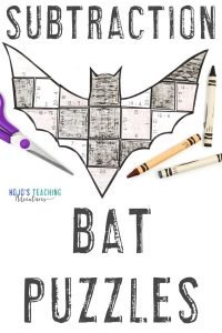 Click to get your subtraction math bat activities for kids now!