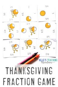 Click to buy your own Thanksgiving Fraction Activity Game!