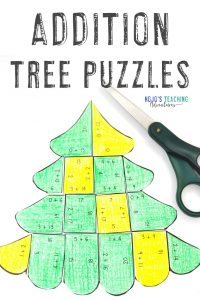 Click to get these addition tree puzzles!