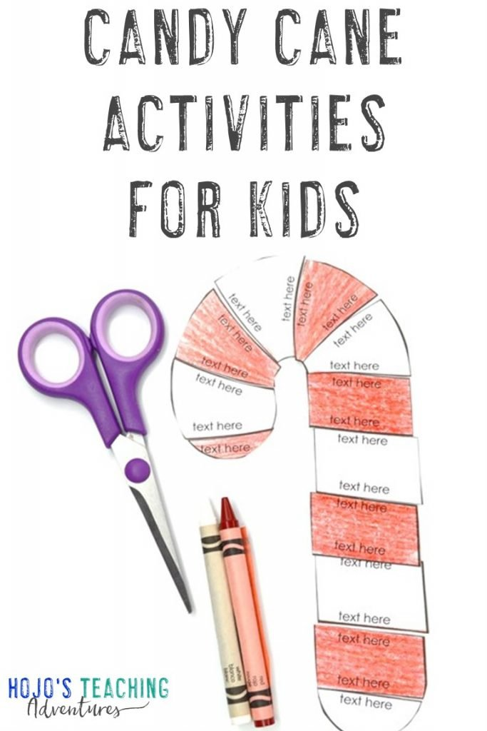 Candy Cane Activities for Kids with an editable puzzle