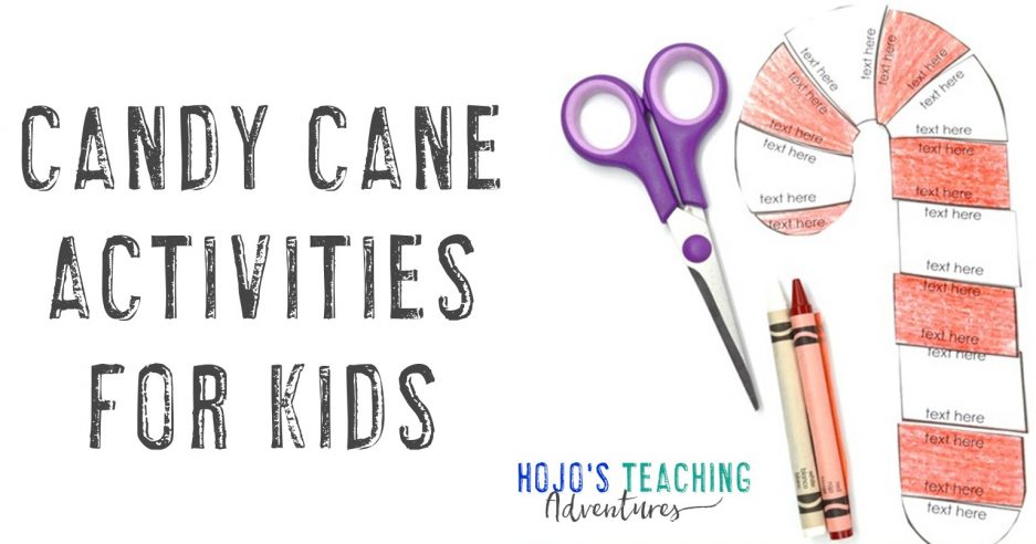 Candy Cane Activities for Kids with an editable puzzle, scissors, & crayons