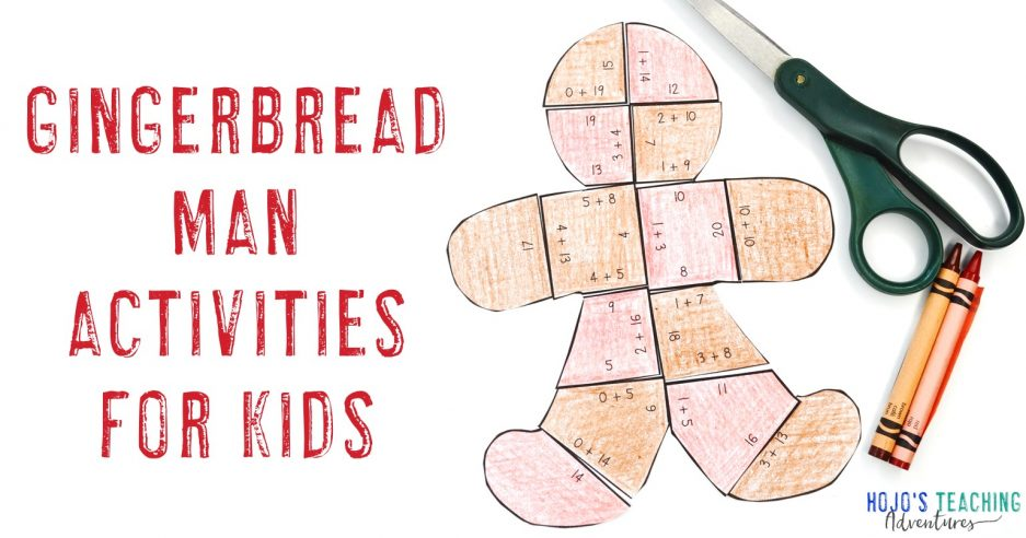 gingerbread man activities for kids with a gingerbread man puzzle