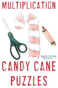 Click to buy your own MULTIPLICATION candy cane activities for kids!