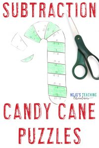 Click to buy your own SUBTRACTION candy cane activities!