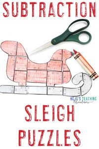 Click for your own subtraction santa activities using sleighs now!