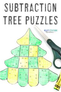 Click to grab your own subtraction tree puzzles!