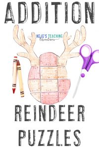 Click to grab your own addition reindeer puzzles now!