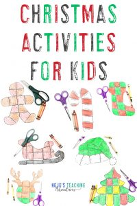 Christmas Activities for Kids with seven puzzles