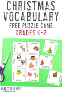 Click to get a FREE K-2 Christmas Vocabulary Puzzle!