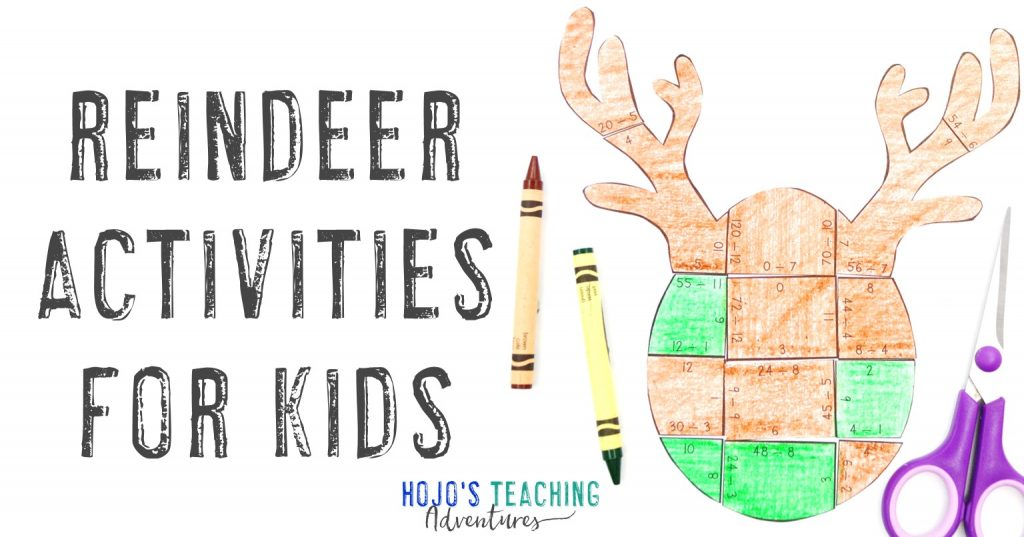 Reindeer Activities for Kids with puzzle