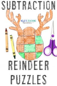 Get your own subtraction reindeer activities by clicking here!