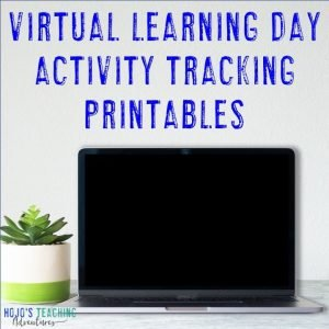 Click to get your FREE Virtual Learning Day Activity Tracking Printables!