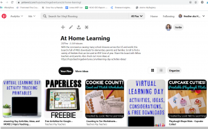 Click this image to find a Pinterest board devoted to FREE ideas about at home learning.