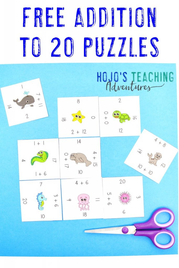 Click to get your FREE Adding 0-20 Magic Square Puzzle