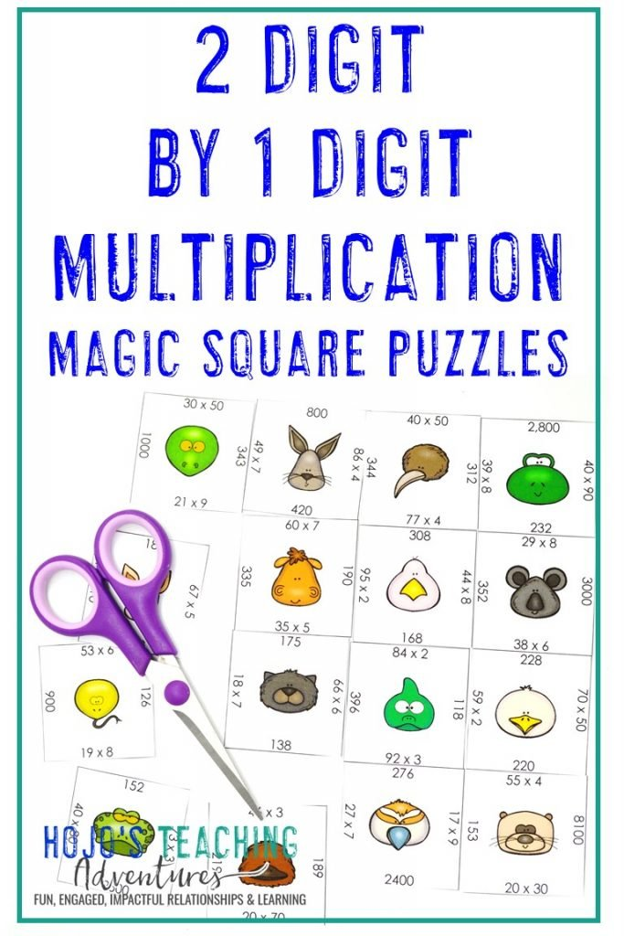 Click to get this FREE 2 Digit by 1 Digit Multiplication Puzzle!
