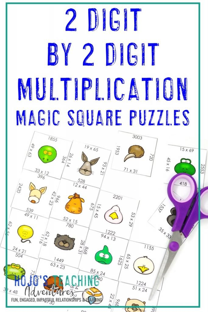 Click to get this FREE 2 Digit by 2 Digit Multiplication Puzzle!