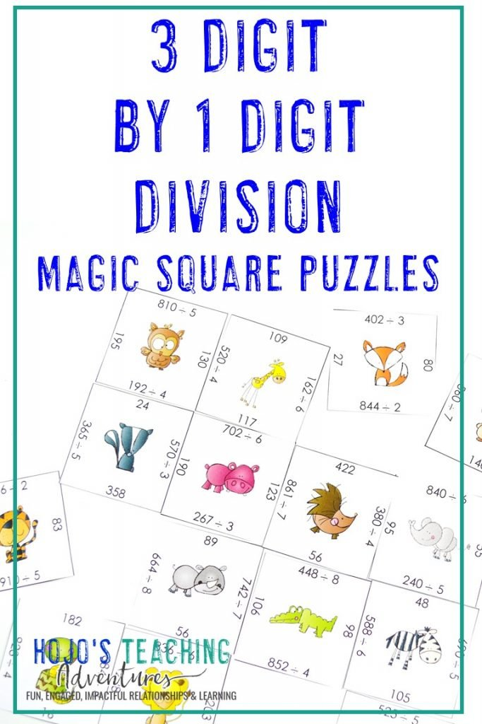 Click to get this FREE 3 Digit by 1 Digit Division Puzzle!