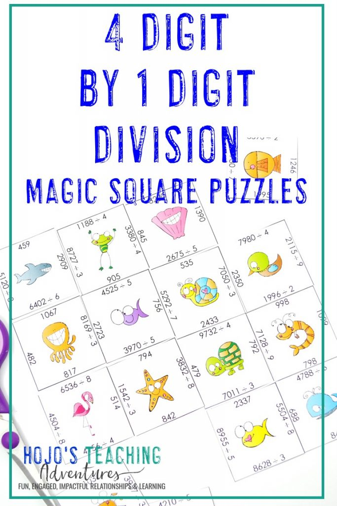 Click to get this FREE 4 Digit by 1 Digit Division Puzzle!