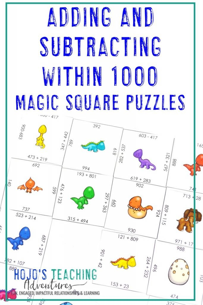 Click to get this FREE Adding and Subtracting within 1000 Puzzle!